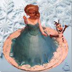 Tarta Elsa, Reina de las Nieves - ChikiCakes