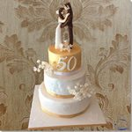 Tarta Boda 50 Aniversario - ChikiCakes